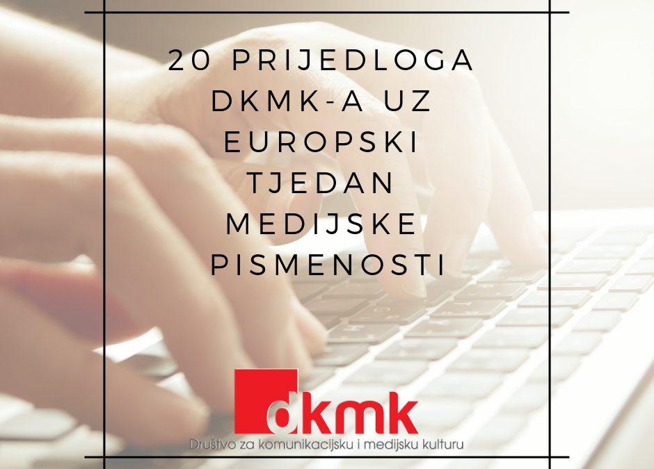 Medijska nepismenost je naš zajednički problem – 20 prijedloga DKMK-a uz europski tjedan medijske pismenosti